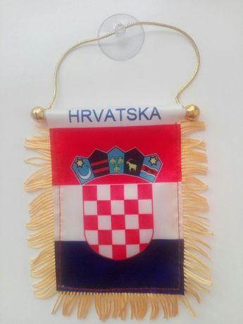 Zawieszka samochodowa flaga Chorwacja