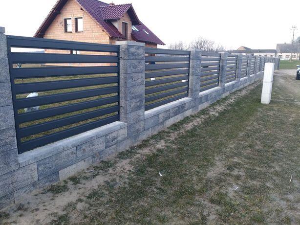 Ogrodzenie, ogrodzenie Palisadowe, bramy, furtki, przęsła