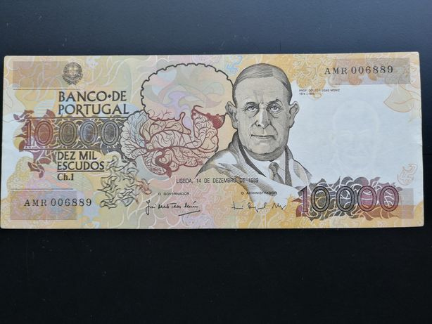 Nota de 10000 escudos
