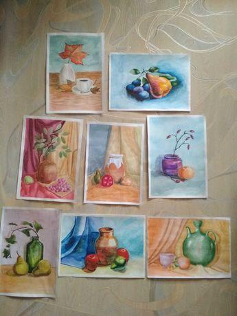 Рисунки, натюрморт, живопись, академические работы