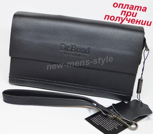 Мужская кожаная натуральная сумка барсетка борсетка клатч Dr.Bond NEW