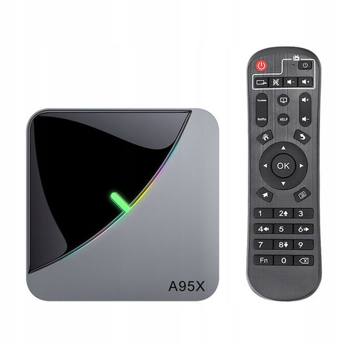 Smart tv box A95X f3 air s905x3 android 9.0 4/32GB netflix hbo Warszawa - image 1