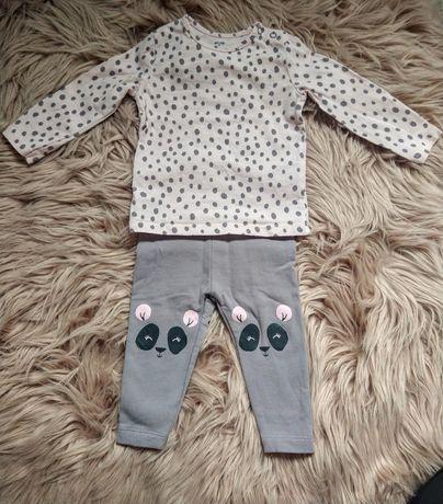 Uroczy komplet niemowlęcy Lupilu bluzeczka+legginsy
