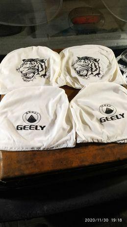 Комплект чехлов на подголовникт Geely