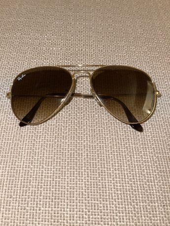 Óculos de sol Ray-Ban Aviator gold