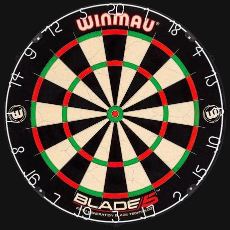 """Профессиональная сизалевая мишень для дартс """"Winmau Blade 5""""."""