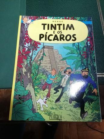 Coleção Banda Desenhada Tintim 24 livros