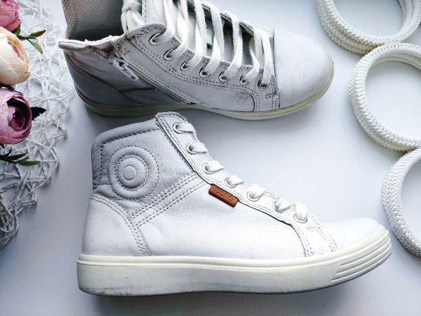 Ecco (Эко) 34 (22-22,5 см) Кожаные демисезонные ботинки кожа