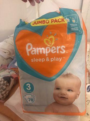 Памперсы, подгузники ,Pampers sleep&play 3 6-10 кг