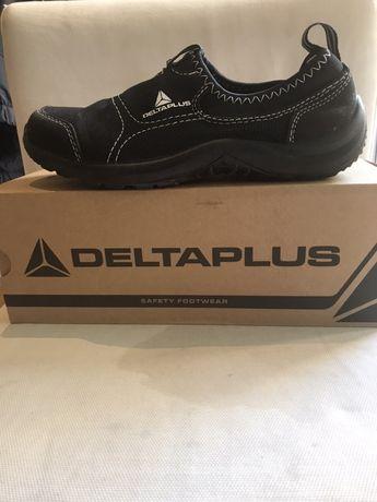 Sapato com biqueira de aço. Obras T36 delta plus