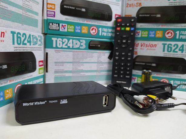 Приставка Т2 DVb-T2/C World Vision T624D3 тюнер ресивер приемник IPTV