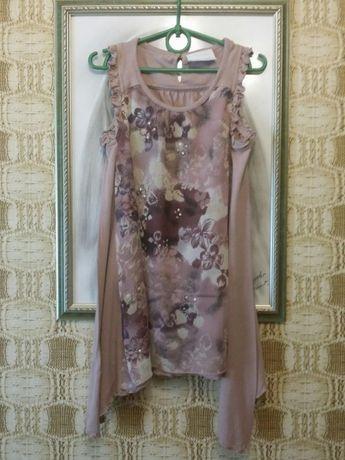 Платье туника майка для девочки 5-9лет