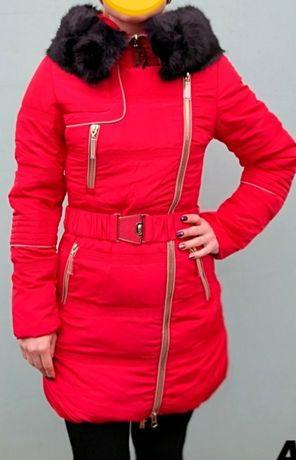 Куртка зимняя, пуховик новый размер 46, двойная змейка, отл качеств