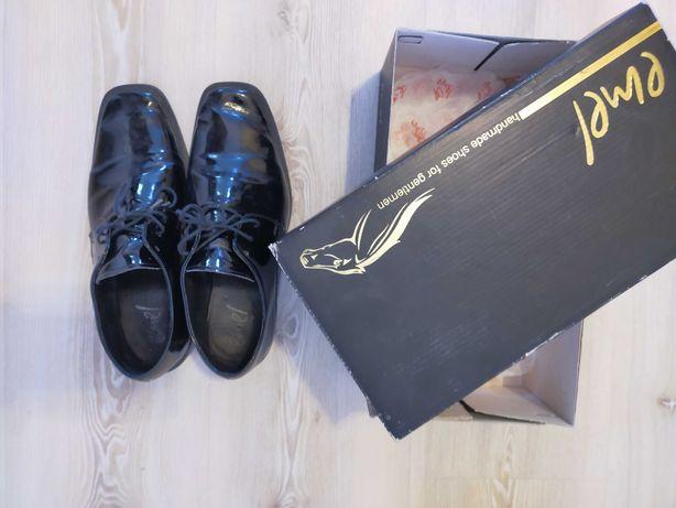 Buty komunijne 36 lakierki eleganckie wyjściowe Emel dla chłopca