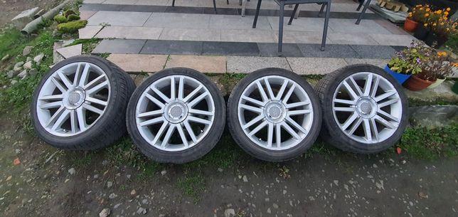 Felgi aluminiowe Audi VW 5x112 r18 z ładnymi oponami