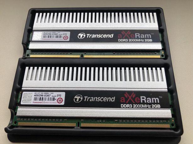 Оперативная память Transcend AXeRam DDR3-2000 4Gb (Kit of 2x2Gb)