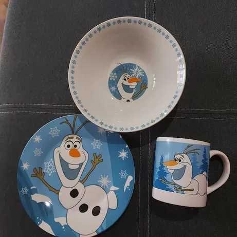 Набор детской посуды-набір посуду Холодне серце Олаф