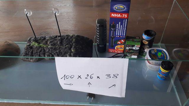 terrarium, akwarium dla żółwia - duże, ok 90l + dodatki
