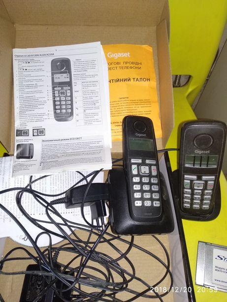 Телефон проводной стационарный радиона две трубки