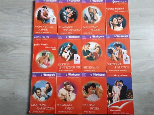 Książki romanse pakiet 12 książek