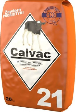 Mleko dla cieląt od 21 dnia calvac 20kg bez gmo