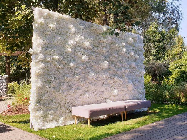 Ścianka kwiatowa biała