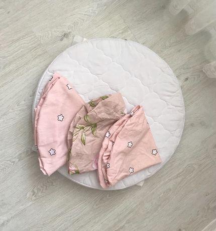 Круглый матрас, кокосовый матрас, матрас в детскую кроватку, матрасик