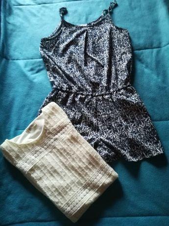 Conjunto vestido e macacão