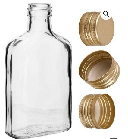 100 szt. Buteleczki 100ml zakrętki podziękowania dla gości, piersiówki