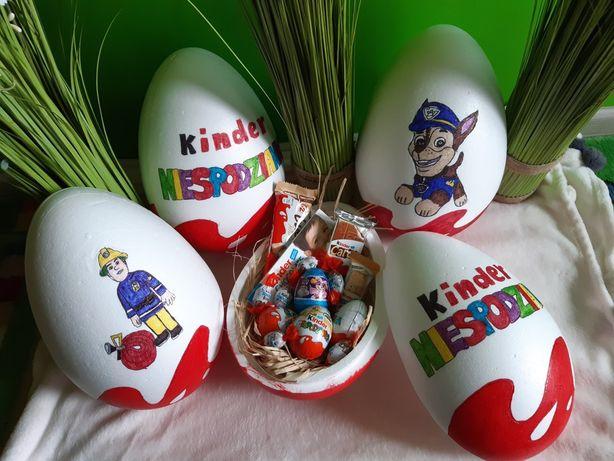 Duże jajka wielkanocne XXL 30cm z dedykacją i słodyczami