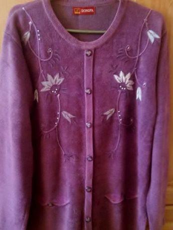 Сиреневый свитер 50 - 54 размера
