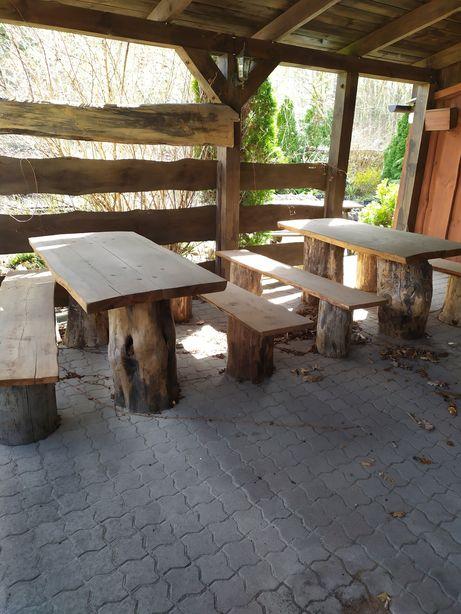Stół z ławami