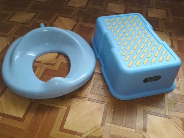 Комплект накладка на унитаз детская и ступенька, Польща
