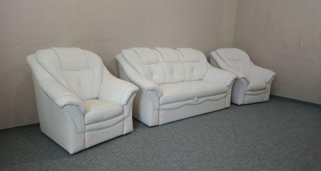 Кожаный диван Раскладной и два Кресла, Мягкая мебель. ДОСТАВКА!