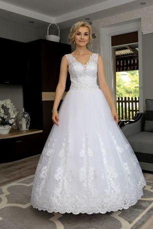 Suknia Ślubna KSIĘŻNICZKA- piękna