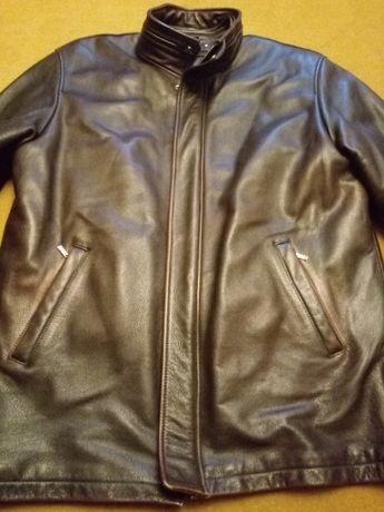 Кожаная зимняя куртка №1 / рр 52-54