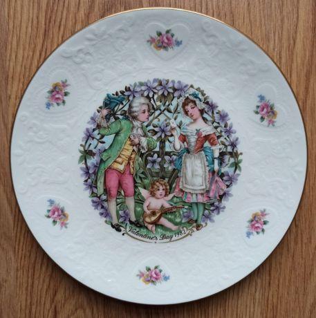 wysokiej jakości talerze kolekcjonerskie Royal Doulton Valentine's Day