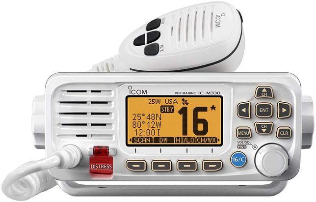 Radio ICOM VHF IC-M330E Branco - Marítimo - Navio - Novo