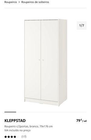 Roupeiro de 2 portas, KLEPPSTAD (IKEA)