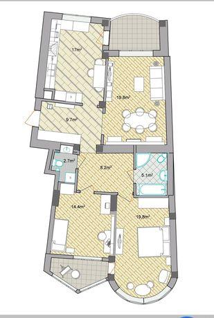 Продається 3-х кімнатна квартира на Сихові, Еко-Дім, 7-й поверх