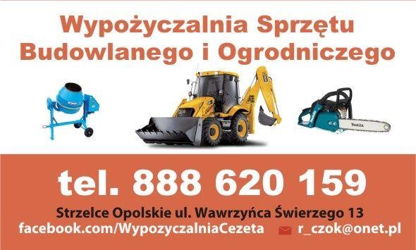 Wypożyczalnia sprzętu budowlanego i ogrodniczego CEZETA.