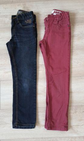 2 pary spodni jeansowych chłopięcych rozmiar 134