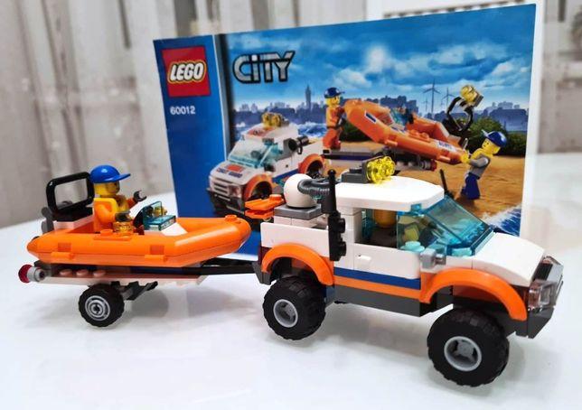 Оригинальный конструктор LEGO City Внедорожник и катер (60012)