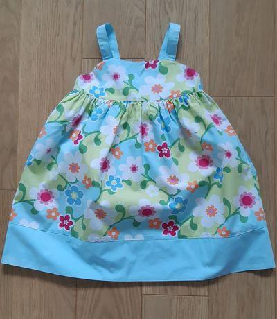 Letnia sukienka Gymboree kwiaty kokardki 5lat