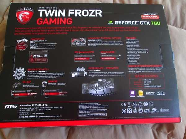 MSI Twin Frozr GTX 760 2Gb [RESERVADA]