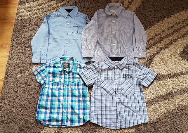 Zestaw 4 koszule eleganckie HM jak nowe rozmiar 104