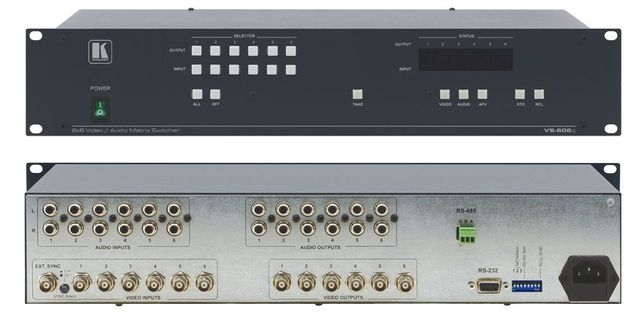 Kramer Matrix VS-606XL 6x6 Composite Video & Stereo Audio Matrix Switc