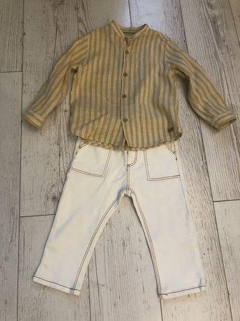 Рубашка и джинсы zara 18-24 мес