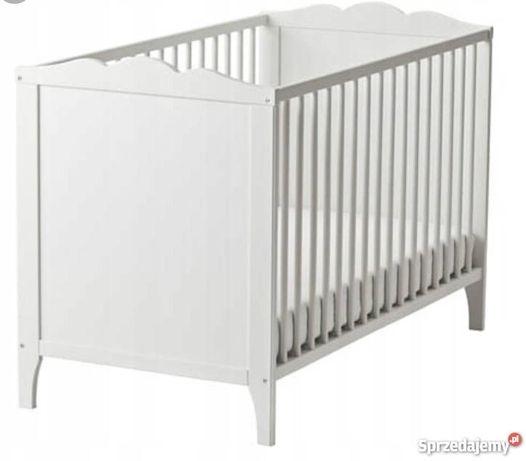 Białe łóżeczko dla dziecka ikea hensvik