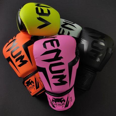 Хит продаж! Перчатки боксерские полиуретан на липучке VENUM ВЕНУМ 5698